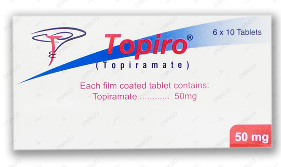 Topiro 50mg Tablets 60's