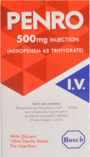 Penro Injection 500mg 1 Vial (Meropenem)