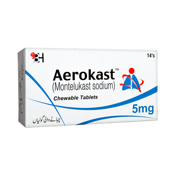 Aerokast Tablets 5mg 2X7's