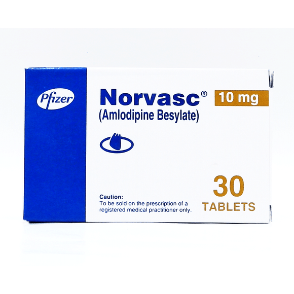 Norvasc Tablets 10mg 2X10's