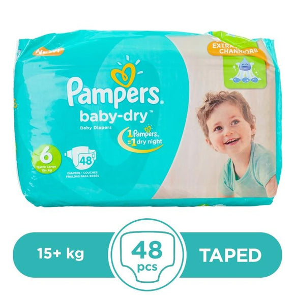 Pampers Taped 15+kg 48Pcs
