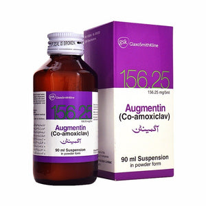 Augmentin Suspension 156.25mg 90ml (Co-Amoxiclav)