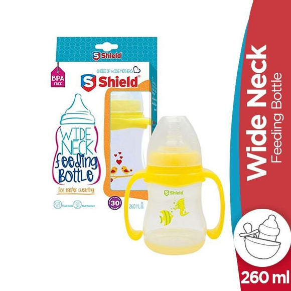 Shield Wide Neck Feeding Bottle 260ml