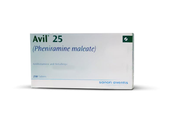 Avil Tablets 25mg 5X50's