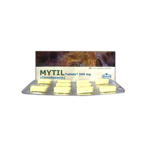 Mytil Tablets 500mg 10's  (Ciprofloxacin)