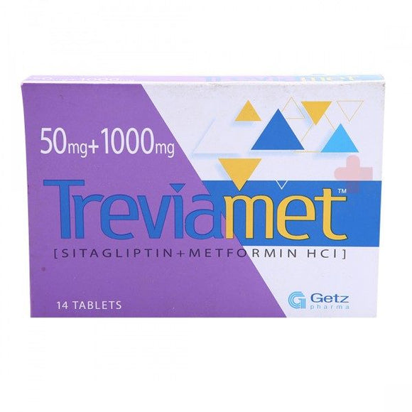 Treviamet Tablets 50/1000mg 14's