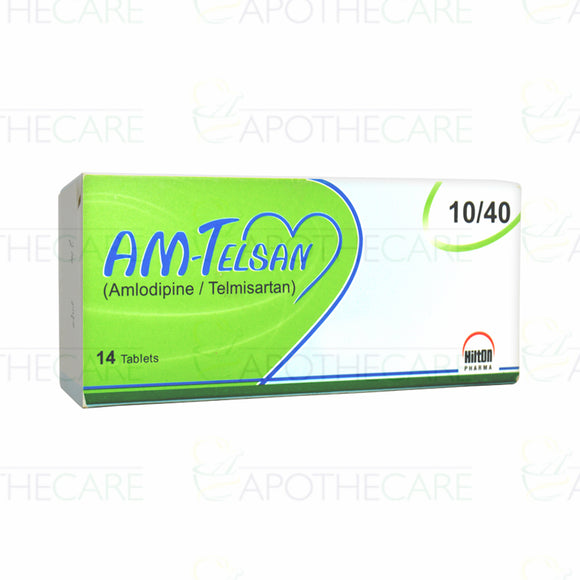 Am-Telsan Tablets 10/40mg 14's (Amlodipine, Telmisartan)