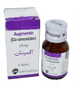 Augmentin Tablets 375mg 6's