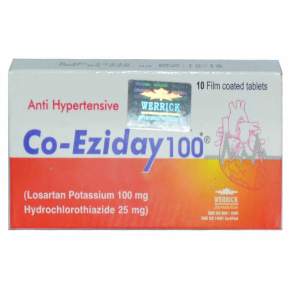 Co-Eziday 100mg 10's