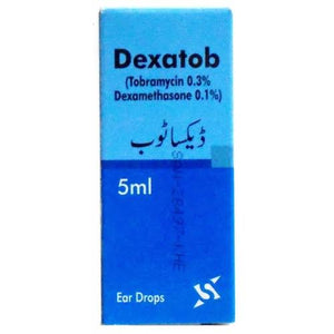 Dexatob Ear Drops 5ml (tobramycin + dexamethasone)