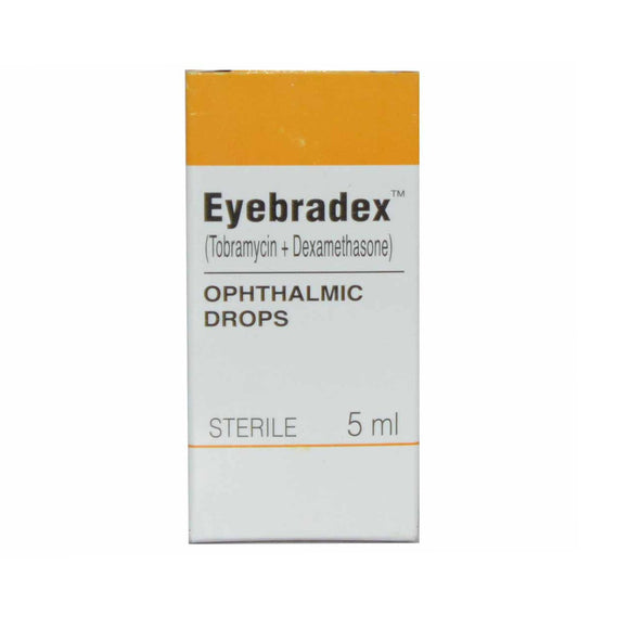 Eyebradex Eye Drops (tobramycin + dexamethasone) 5ml