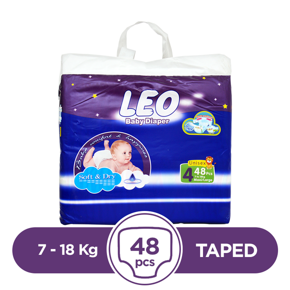 Leo Taped 7 To 18kg 48Pcs