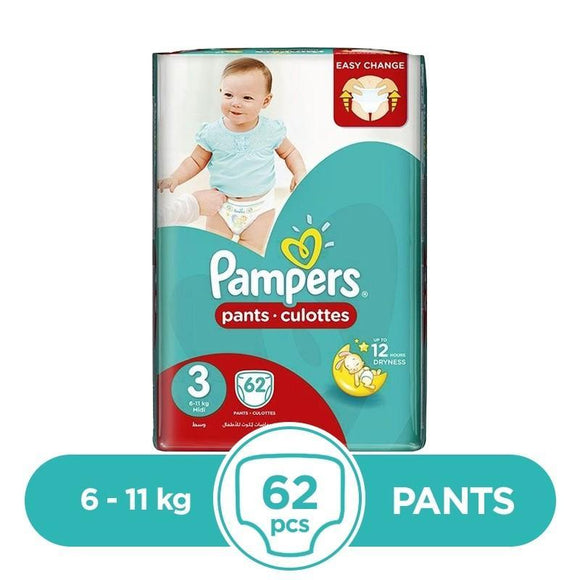 Pampers Pants 6 To 11kg 62Pcs