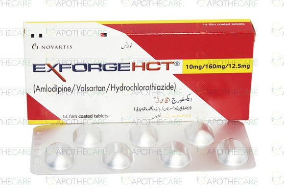 Exforge Hct Tablets 10/160/12.5mg 14's