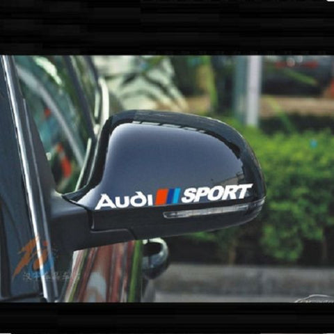 AMAZING CAR WING MIRROR STICKERS FOR AUDI CAR STICKERS CAR DECAL