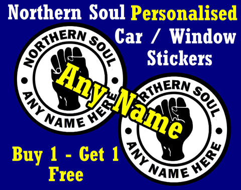 NORTHERN SOUL -KTF- CAR DECAL / WINDOW STICKERS