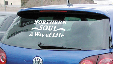 NORTHERN SOUL A WAY OF LIFE CAR-SCOOTER DECAL