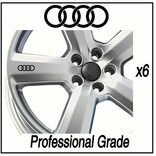 AUDI ALLOY / WHEEL DECALS - STICKERS A3 A4 A6 - X6 !