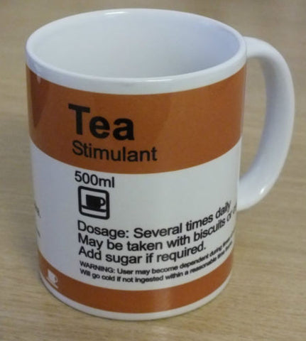"""TEA - Stimulant"" Funny prescription style MUG - personalised"