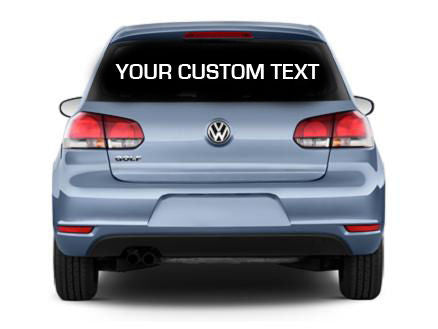 2 x Personalised Custom Rear Window Car Stickers Vinyl Name Lettering Decals