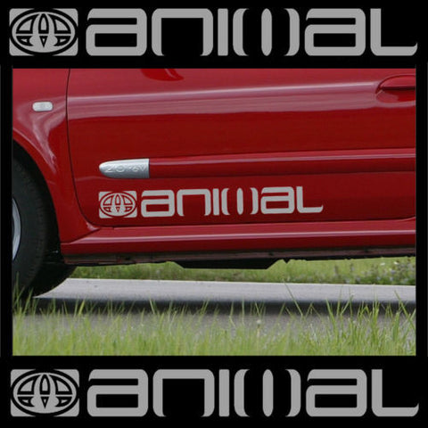 2 x LARGE ANIMAL car graphic sticker decals | Vinyl bodywork camper van surf.
