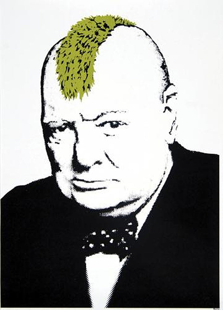 Banksy punk churchill Mouse Pad MP943 [Office Product]