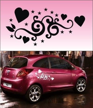 2x HEART Vinyl Car Graphics,Stickers,Decals