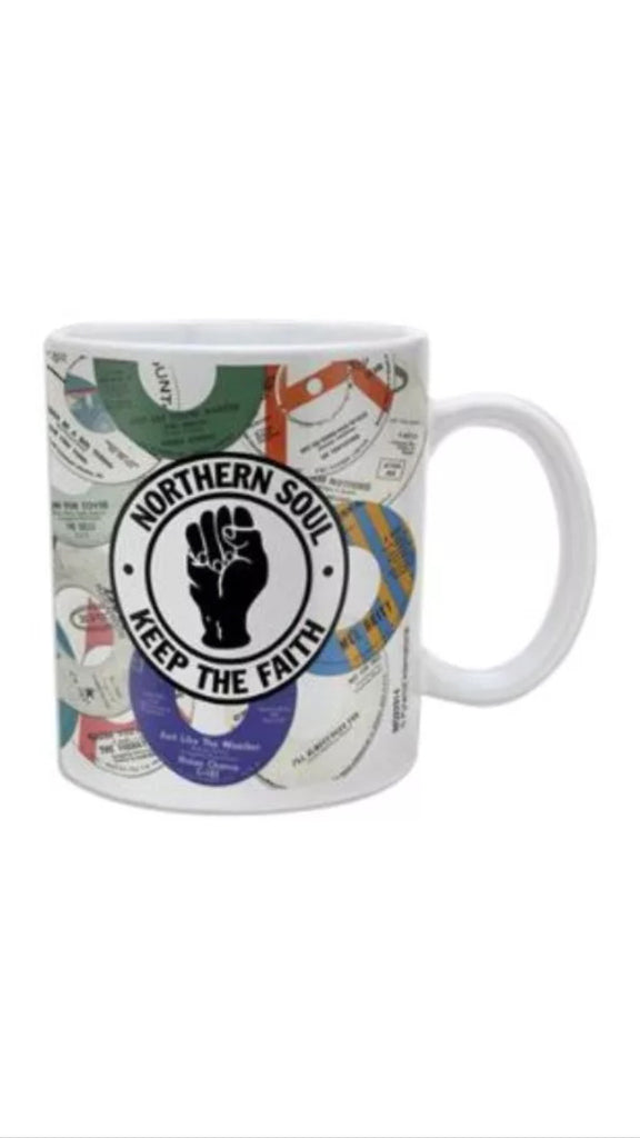 NORTHERN SOUL RECORDS MUG CERAMIC CUP TEA COFFEE TV FILM GIFT KEEP THE  FAITH