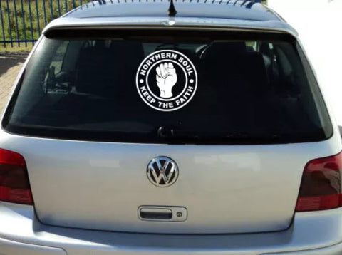 NORTHERN SOUL LARGE KEEP THE FAITH CAR DECAL £2.99