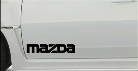 2 X MAZDA LARGE VINYL CAR STICKERS DECALS MX5 MPS RX8