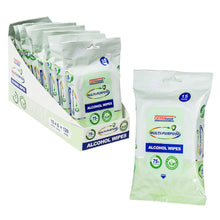 Load image into Gallery viewer, Case of Germisept Multi-Purpose Antibacterial Alcohol Wipes (15 Count) (32 Packs)
