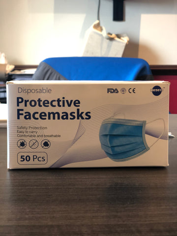Single Use Face Masks (50 Count)