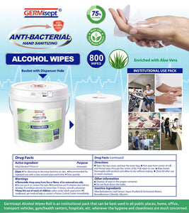 Germisept Antibacterial Multi-Purpose Alcohol Wipes (800 Count)