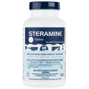 Pallet of Steramine 6Q Tablets - Sanitizing Tablets (1,152 Bottles)