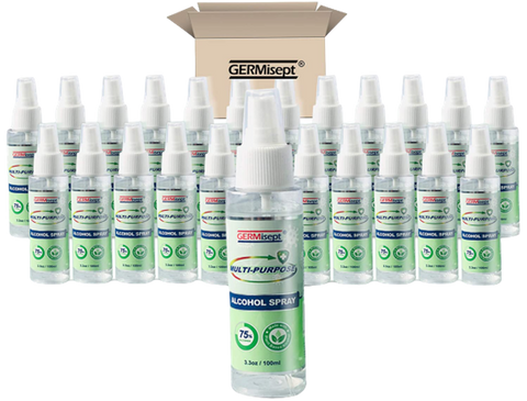 Case of Germisept Multi-Purpose Alcohol Spray (3.3 Oz.) (24 Bottles)
