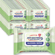 Load image into Gallery viewer, Case of Germisept Multi-Purpose Antibacterial Alcohol Wipes (50 Count) (24 Packs)