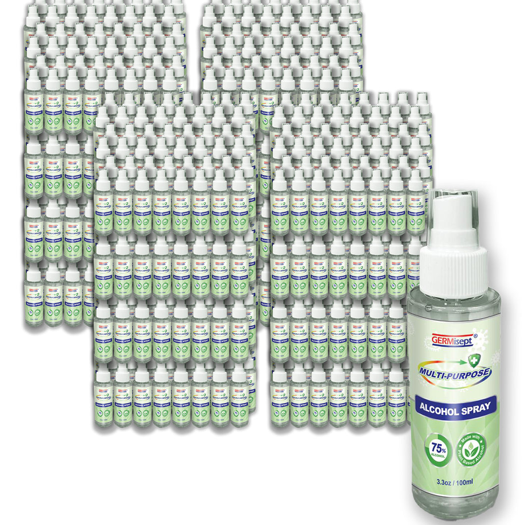 Pallet of Germisept Multi-Purpose Alcohol Spray (3.3 Oz.) (864 Bottles)