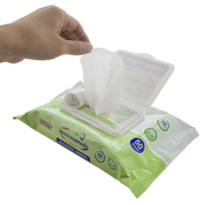 Germisept Multi-Purpose Alcohol Wipes (15 Count Packs) + Spray Bundle