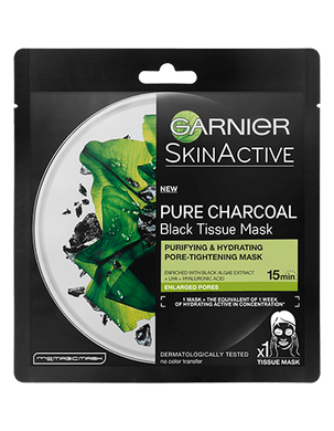 Garnier Charcoal and Algae Hydrating Face Sheet Mask - Mrayti Store