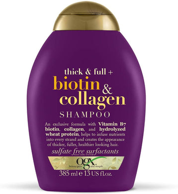 OGX Thick & Full Biotin Collagen Shampoo 385 ml - Mrayti Store