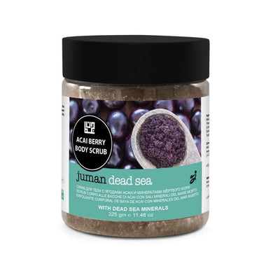 Juman Acai Berry Body Scrub Enriched With Dead Sea Minerals 325 gm - Mrayti Store
