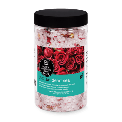 Juman Dead Salts  Bath Crystals With  Rose & Argan Oil 360 gm - Mrayti Store