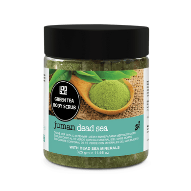 Juman Green Tea Luxury Body Scrub With Dead Sea Minerals 325 ml - Mrayti Store
