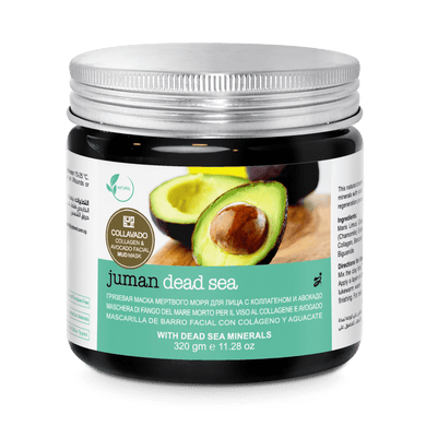 Juman Pores Care And Anti- Aging Collagen & Avocado Facial Mud Mask With Dead Sea Minerals 320 gm - Mrayti Store
