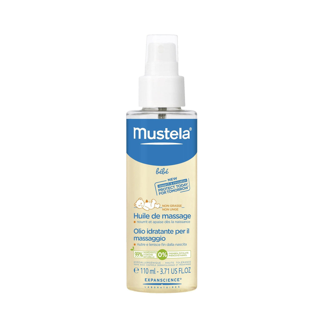 Mustela Massage Oil Moisturizing Oil For Baby Massage 110 ml