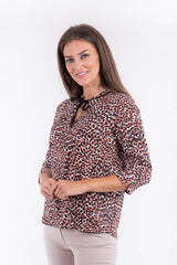 Bluza animal print multicolor B4003 - Caramel