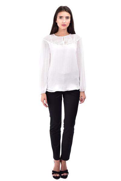Bluza casual voal ivory B4827