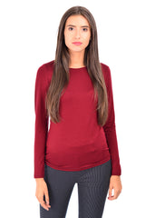 Bluza basic bordo B4637 - Caramel