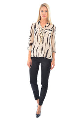 Bluza voal animal print B4631
