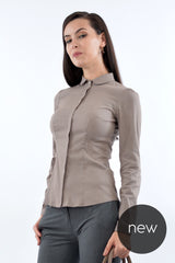 Camasa office C7507 - Caramel